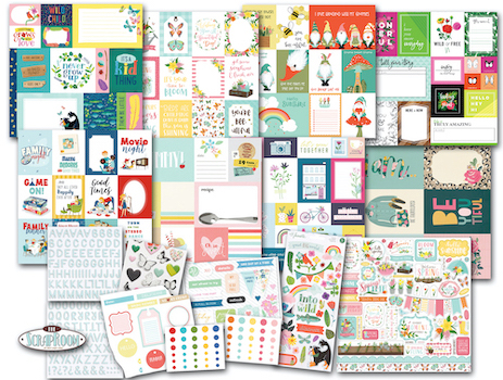 5 Double Page Layouts Wicked Cute Scrapbook Set
